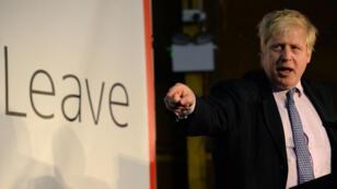 L'ancien maire de Londres, Boris Johnson, à Manchester le 15 avril 2016.