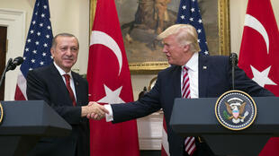Le président turc Recep Tayyip Erdogan, reçu par Donald Trump à Washington, le 16 mai 2017.