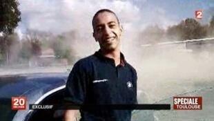 صورة نشرتها قناة فرانس-2 لمحمد مراح في 21 آذار/مارس 2012