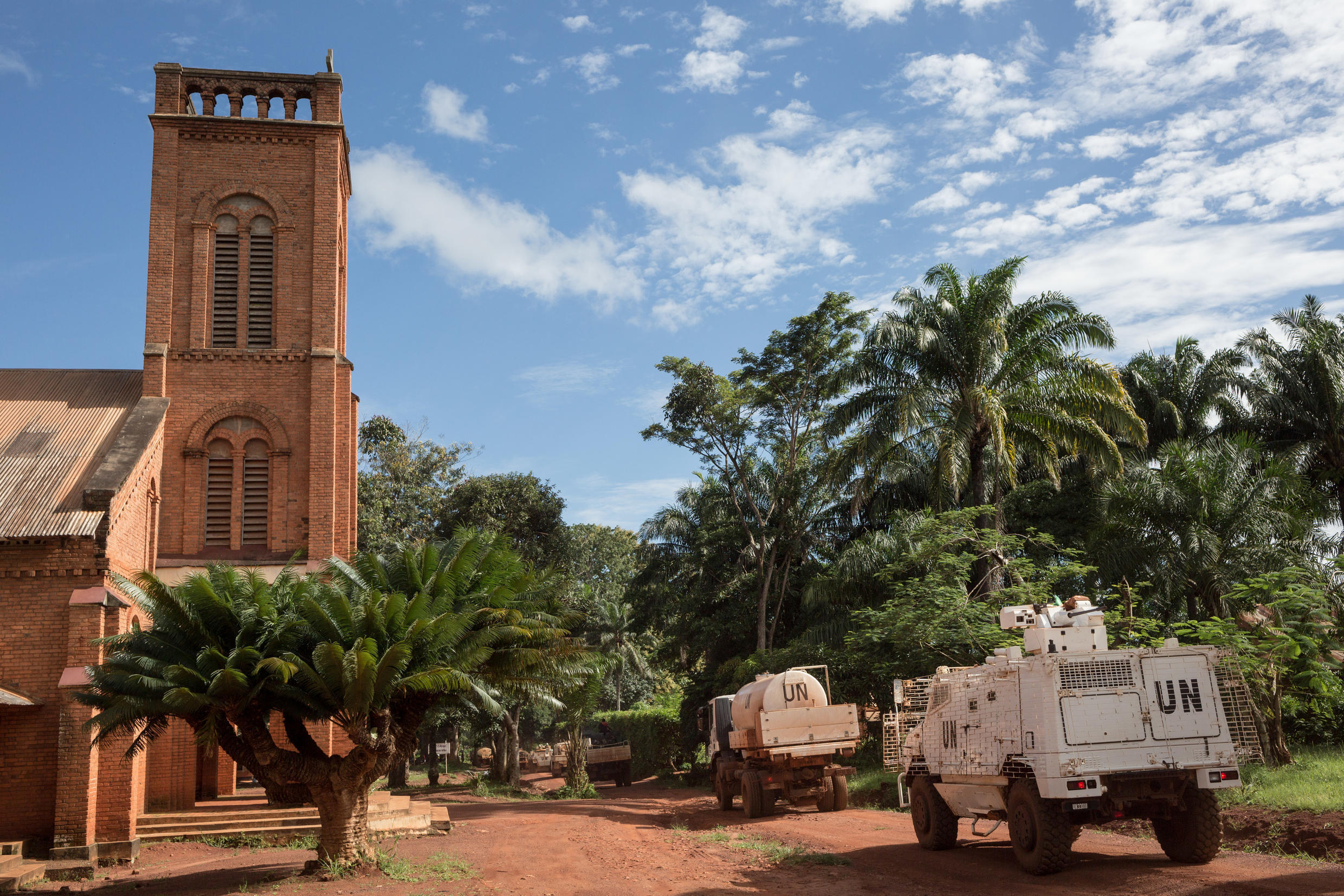 The UN's MINUSCA mission has a base in the Central African Republic city of Bangassou