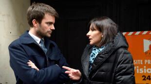 Bruno Julliard et Anne Hidalgo, le 11 avril 2013, à Paris.