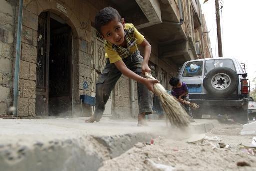 طفل يمني بصنعاء في 4 مايو 2015