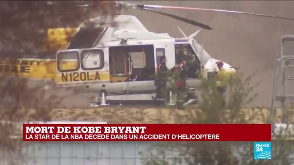 """2020-01-26 22:30 """"Virtuose du basketball"""" : Mort de Kobe Bryant, la star de la NBA, décédé dans un accident d'hélicoptère"""