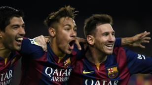 Suarez, Neymar et Messi, le trio magique du FC Barcelone.