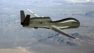 Vista del dron no tripulado RQ-4 Global Hawk de la Fuerza Aérea estadounidense, el 20 de junio de 2019.
