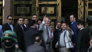 Le chef du parti libéral égyptien Al-Ghad, Moussa Mostafa Moussa, lundi 29 janvier 2018, au Caire.