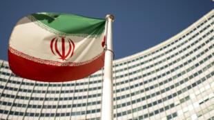 Un drapeau iranien flotte devant le siège des Nations unies, à New York, le 10 septembre 2018.
