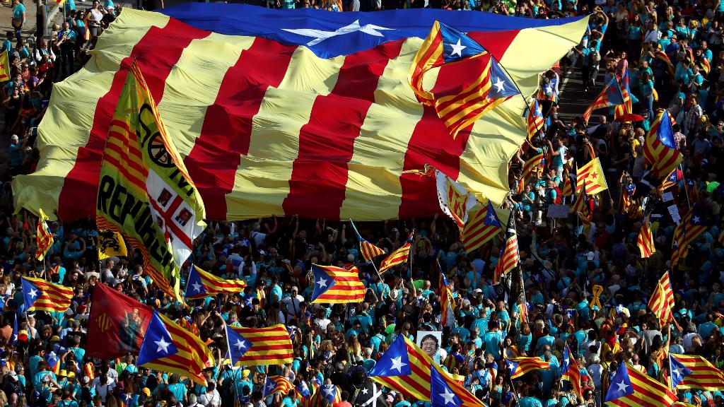 El pasado 11 de septiembre más de 600.000 personas salieron durante la 'Diada', la fiesta nacional de Cataluña.