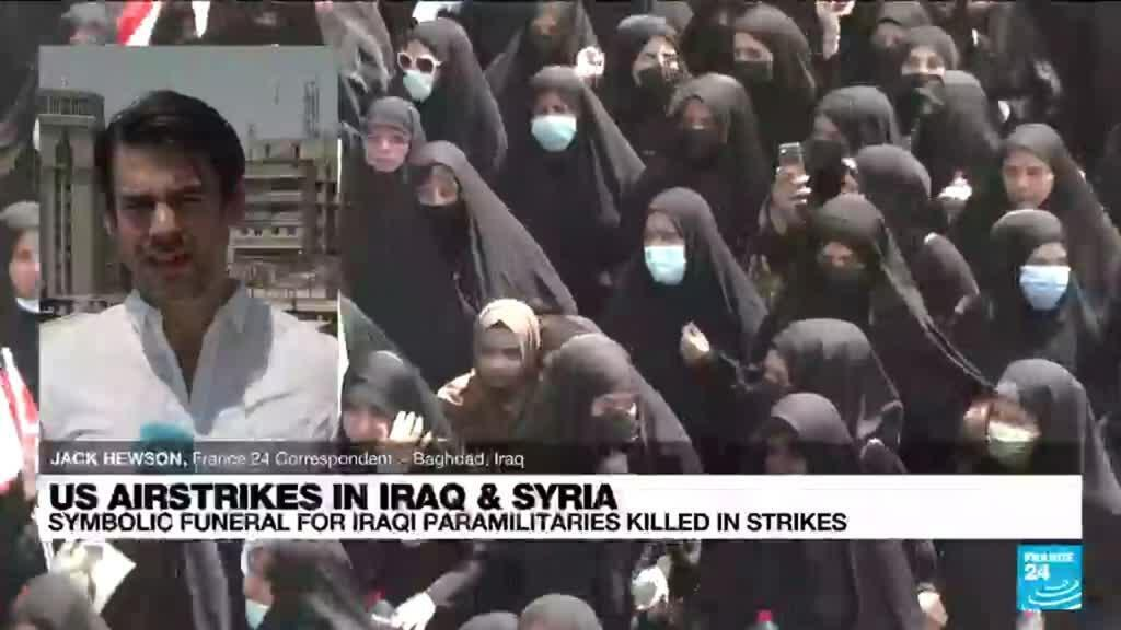 2021-06-29 13:37 Iraqi fighters mourn comrades killed in US strikes