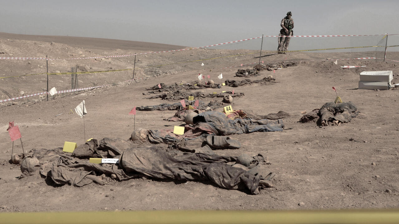 Iraq opens mass grave to identify victims of IS group's Badush prison massacre