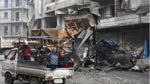 Les rues d'Alep-est, repris par le régime, mardi 27 décembre 2016.