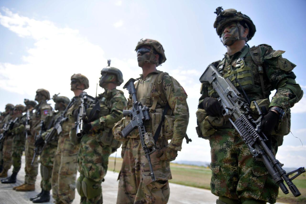 Foto de archivo de Las tropas colombianas y estadounidenses realizan ejercicios militares conjuntos en Tolemaida, Colombia, el 26 de enero de 2020.