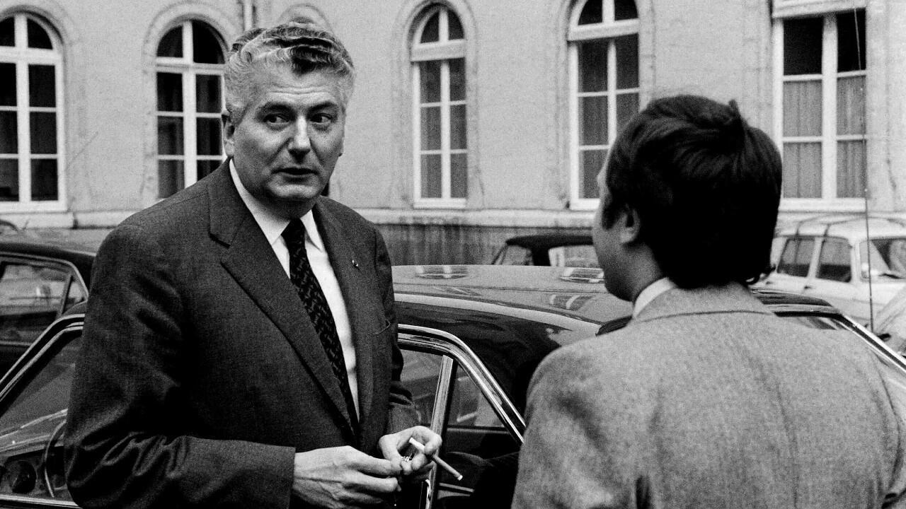 Deputy Hubert Germain in July 1972 before a meeting with Prime Minister Pierre Messmer.