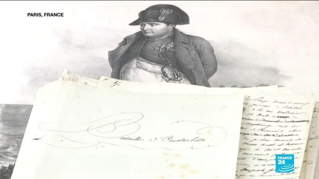 2021-01-26 11:14 Manuscript dictated by Napoleon Bonapart describing Austerlitz battle to hit auctions in France
