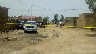 Un périmètre de sécurité installé à Ouagadougou, le 22 mai 2018, après un assaut des forces de l'ordre contre des jihadistes.