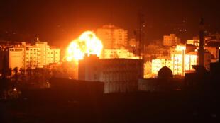 مواقع لحركة المقاومة حماس تحت القصف الإسرائيلي في غزة، 25 مارس آذار 2019