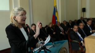 La exfiscal venezolana Luisa Ortega inteviene en la sesión de los magistrados en el exilio. 16/08/18