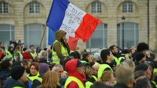 """متظاهرون في حركة """"السترات الصفراء"""" الفرنسية"""