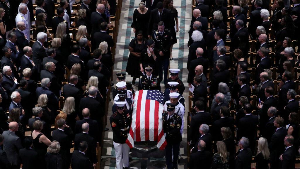 Servicio conmemorativo del senador estadounidense John McCain en la Catedral Nacional de Washington D. C.