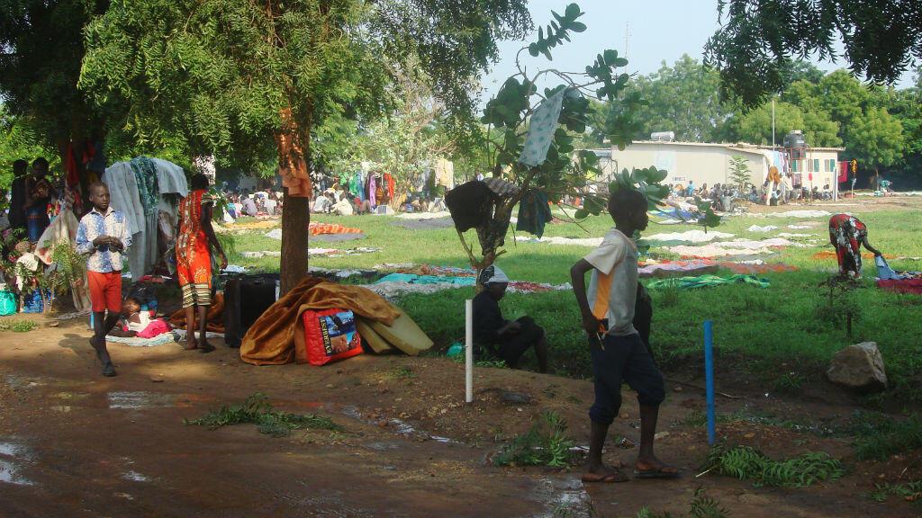 Des Sud-Soudanais réfugiés dans un camp de l'ONU, non loin de Juba, le 12 juillet 2016.