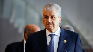 عبد المالك سلال مدير حملة بوتفليقة ورئيس الوزراء الجزائري السابق. 31 يناير/كانون الثاني 2017.