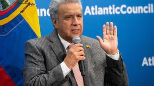 El presidente de Ecuador, Lenín Moreno, el 13 de febrero de 2020 en Washington