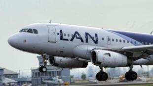 Una aeronave de Lan en Chile el 16 de agosto de 2010.