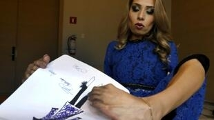 No arms, no problem: Mexican fashionista Adriana Macias has forged a path to success by designing apparel with her feet