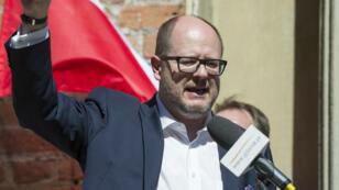 Le maire de Gdansk, Pawel Adamowicz, le 21 avril 2018, dans sa ville.