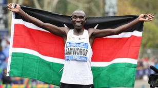 Le Kényan Geoffrey Kipsang Kamworor a remporté le marathon de New York, le 5 novembre 2017.