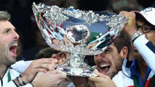 Le mythique saladier d'argent, remporté par les Bleus en 2017.