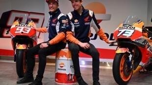 Repsol Honda MotoGP driver Marc Marquez and his brother and teammate Alex
