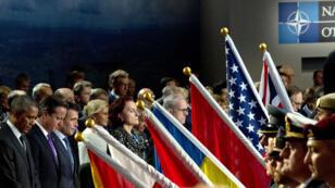 Les chefs d'États membres de l'Otan réunis à Newport, au Pays de Galles.