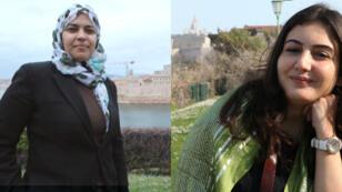 Dalia Ziada (gauche) et Asmaa al-Ghoul (droite)