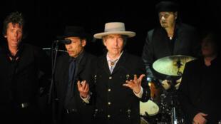 L'artiste américain Bob Dylan lors d'un festival de musique à Byron Bay, en Australie, le 25 April 25 2011.