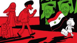 """Dans le deuxième tome de """"L'Arabe du futur"""", Sattouf illustre l'enfance d'un petit garçon blond dans la Syrie de Hafez al-Assad."""