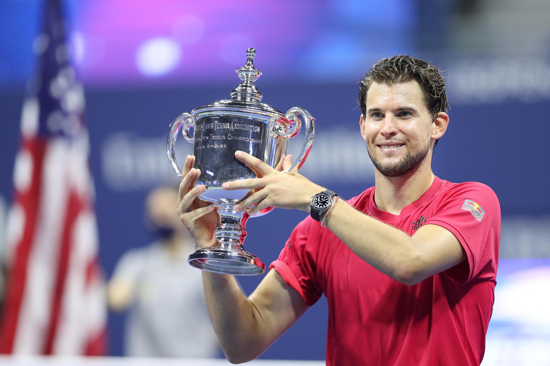 L'Autrichien Dominic Thiem vainqueur de l'US Open, le 13 septembre 2020, à New York.