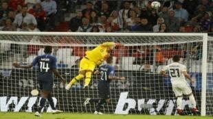 المباراة الأولى لأبطال العالم ضمن دوري الأمم الأوروبية ضد ألمانيا، ميونيخ في أيلول/سبتمبر 2018.