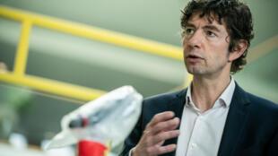 Christian Drosten, director del hospital de Caridad de Berlín, tras la rueda de prensa que dio el 26 de marzo de 2020 en la capital alemana