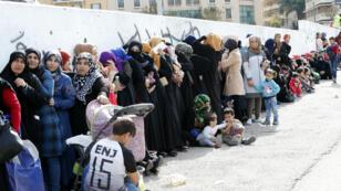 Réfugiés syriens à Beyrouth, le 26 novembre 2017.