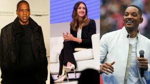 De gauche à droite : Jay-Z, Jessica Alba et Will Smith.