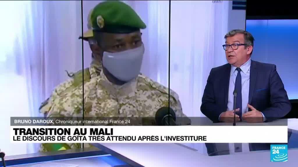 2021-06-07 10:02 Transition au Mali : le discours d'investiture d'Assimi Goïta très attendu