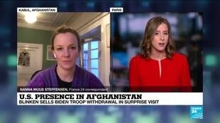 2021-04-15 16:02 Afghanistan: Blinken sells Biden troop withdrawal in surprise visit