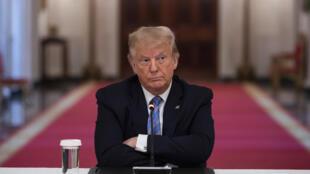 الرئيس الأميركي دونالد ترامب في البيت الأبيض في واشنطن في 7 حزيران/يونيو 2020