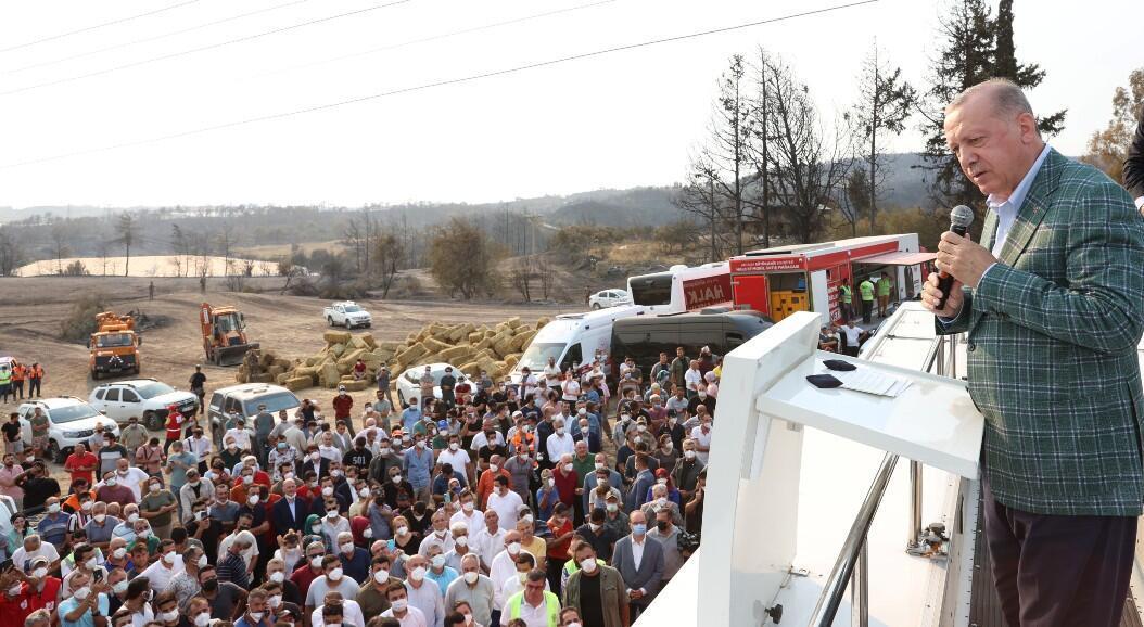 """Erdogan declares Turkey's fire-stricken regions """"disaster areas"""" - Pledge Times"""