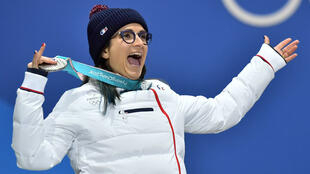 Marie Martinod, médaillée d'argent en ski halfpipe à Pyeongchang.
