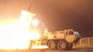 A THAAD (Terminal High Altitude Area Defence) interceptor launched in Kodiak, Alaska during a flight experiment on July 30, 2017
