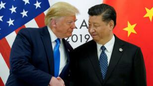 El presidente de Estados Unidos, Donald Trump, se reunió con el presidente de China, Xi Jinping, en el marco de la cumbre de líderes del G20 en Osaka, Japón, el 29 de junio de 2019. (Archivo)