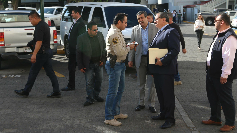 Foto revelada por la oficina de prensa del Procurador General de la República mexicana que muestra al fiscal general mexicano Raúl Sánchez
