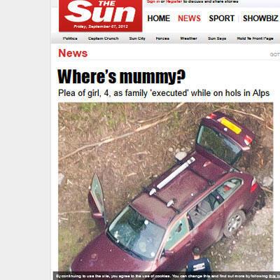 La une du tabloïd britannique The Sun